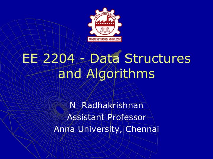 ee 2204 data structures and algorithms n.