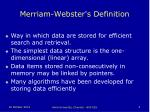 merriam webster s definition