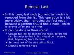 remove last
