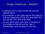 singly linked list addition