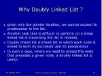 why doubly linked list