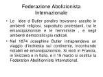 federazione abolizionista internazionale