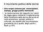 il movimento politico delle donne1
