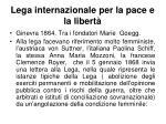 lega internazionale per la pace e la libert