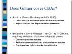 does gilmer cover cbas