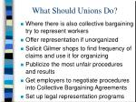 what should unions do