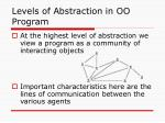 levels of abstraction in oo program
