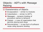 objects adt s with message passing