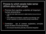 process by which people make sense of think about other people