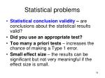 statistical problems