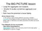 the big picture lesson