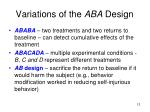 variations of the aba design