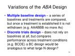 variations of the aba design2