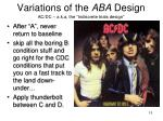 variations of the aba design3