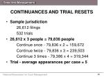continuances and trial resets