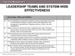 leadership teams and system wide effectiveness2
