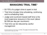 managing trial time