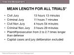 mean length for all trials