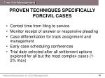 proven techniques specifically forcivil cases