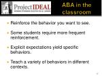 aba in the classroom