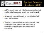 applied behavior analysis aba