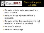 five principles of aba