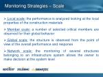 monitoring strategies scale