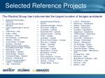 selected reference projects