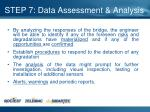 step 7 data assessment analysis