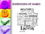 inversions of names
