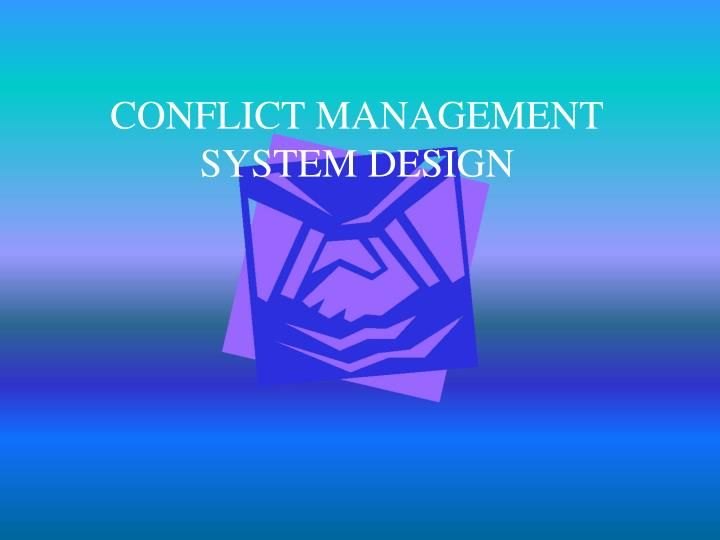 conflict management system design n.
