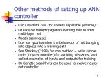 other methods of setting up ann controller