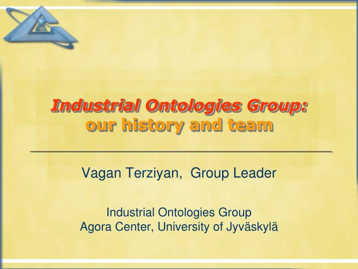industrial ontologies group our history and team n.