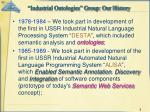 industrial ontologies group our history