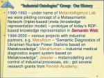 industrial ontologies group our history1