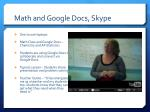 math and google docs skype