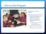 one to one program