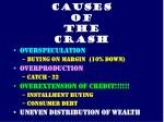 causes of the crash