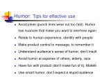 humor tips for effective use