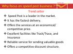 why focus on speed post business3