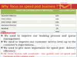 why focus on speed post business4