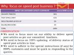 why focus on speed post business5