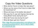copy the video questions