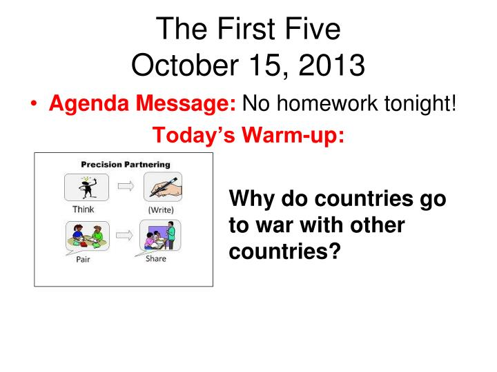 the first five october 15 2013 n.