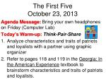 the first five october 23 2013