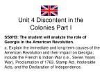 unit 4 discontent in the colonies part i