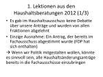 1 lektionen aus den haushaltsberatungen 2012 1 3