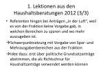 1 lektionen aus den haushaltsberatungen 2012 3 3