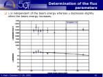determination of the flux parameters