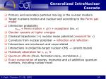 generalized intranuclear cascade